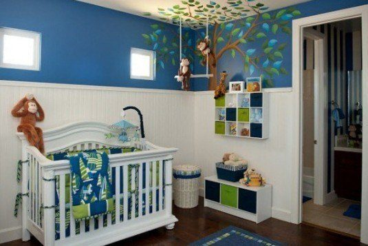 baby room-blue and green