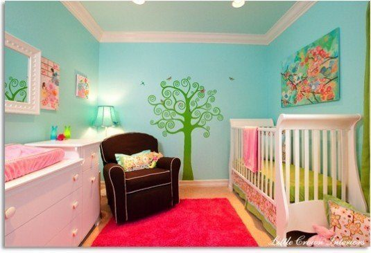 baby room-vivid colors