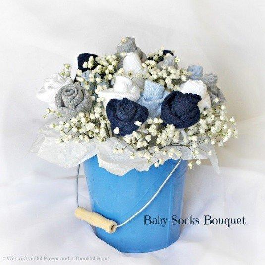 baby socks bouquet