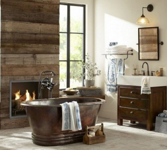 bathroom-wooden