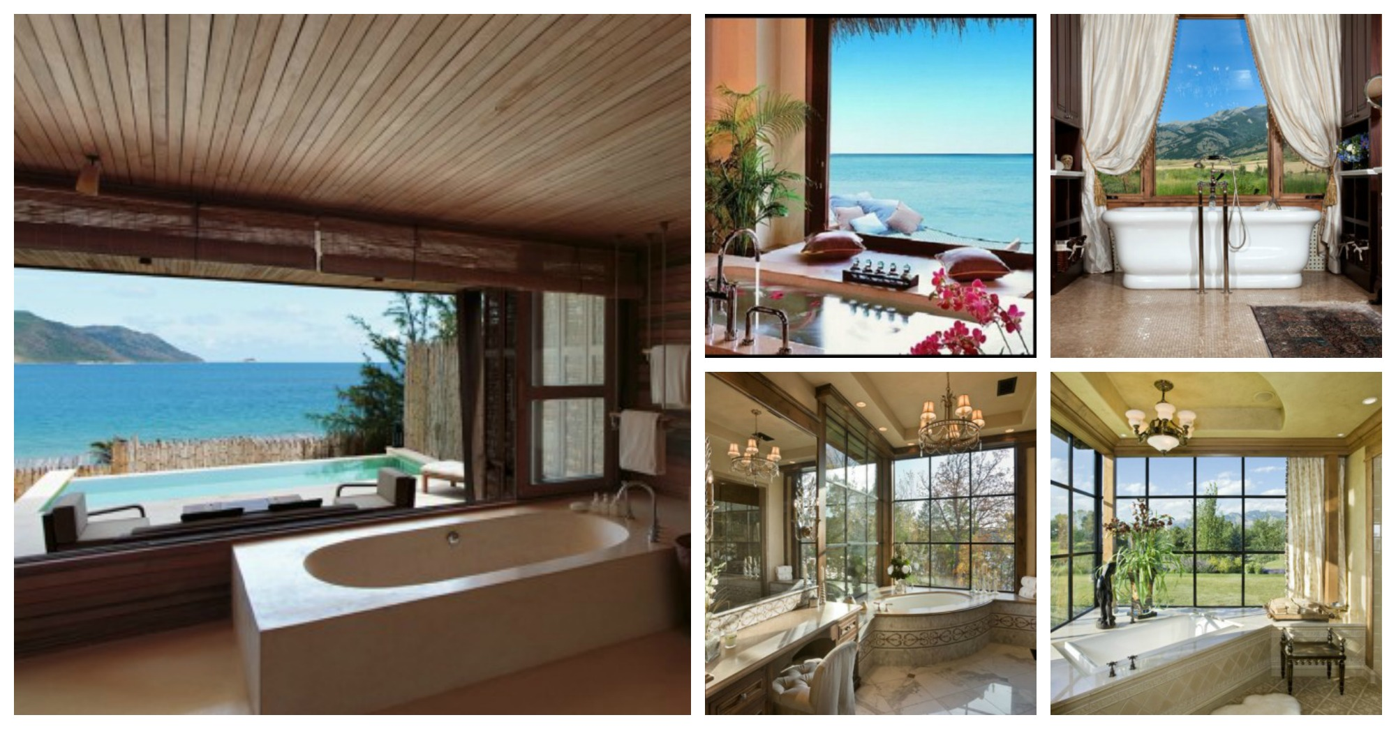 10 Tranquil Bathroom Designs with Open Views