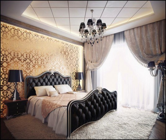 bedroom-black bed
