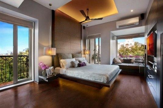 bedroom-brown floor