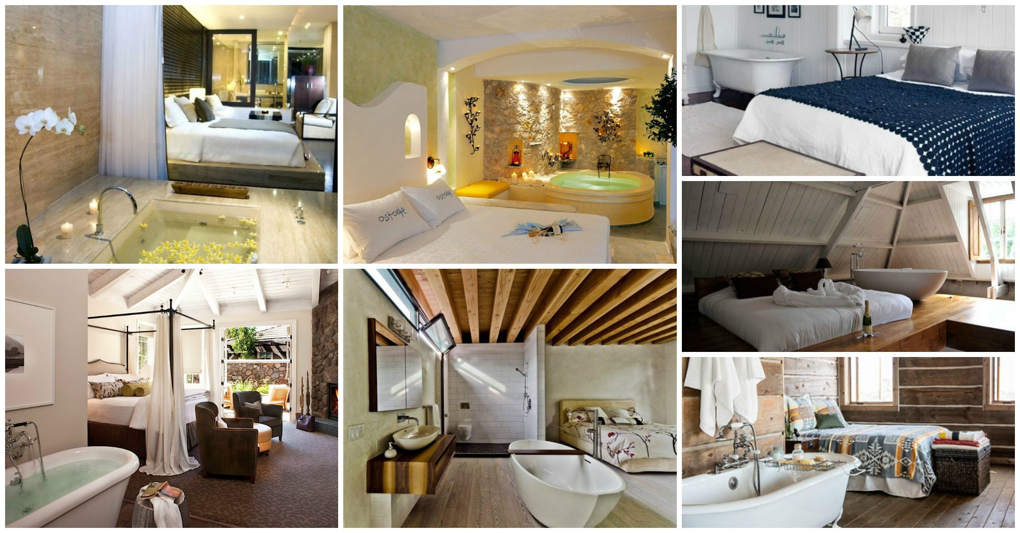 Contemporary Bedrooms with Bathtubs