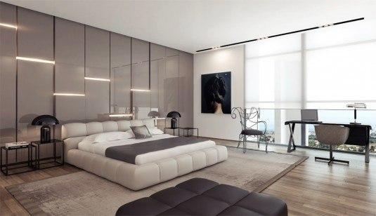 bedroom-white bed