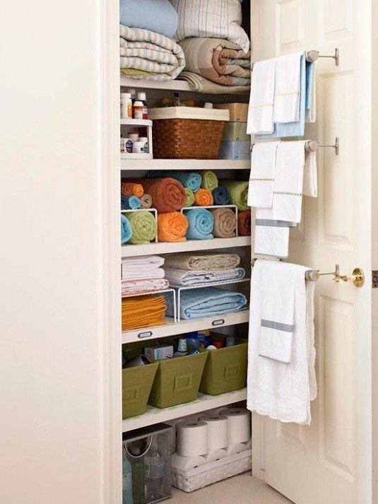 clever bathroom organization