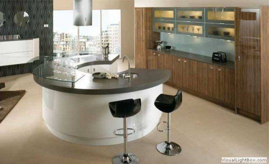 curved kitchen island-small