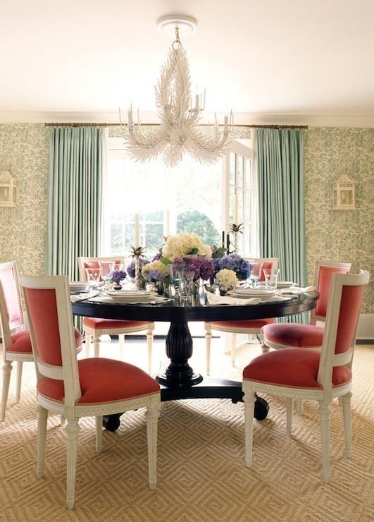 dining room-coral