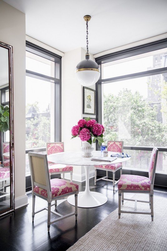 dining room-pink