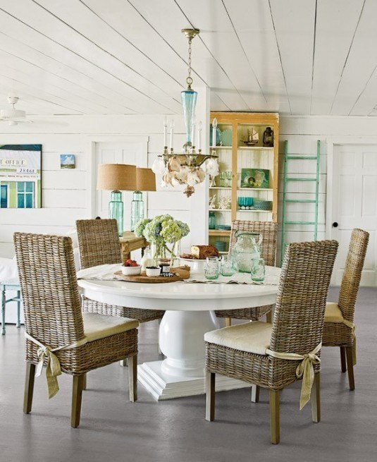 dining room-white table