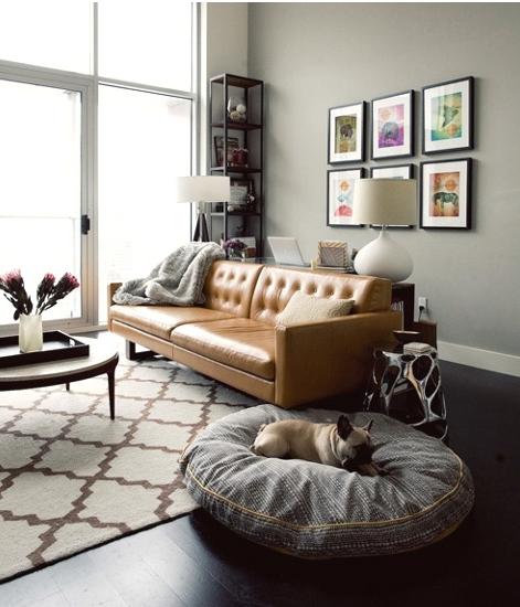 dog bed-gray