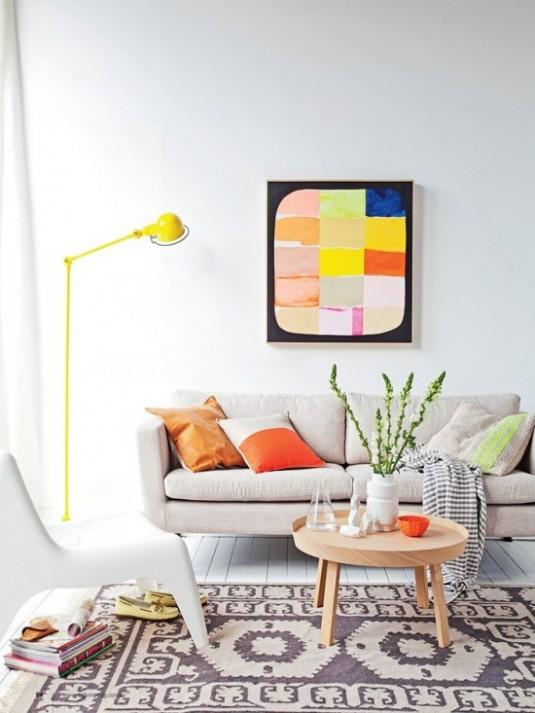 floor lamp-yellow