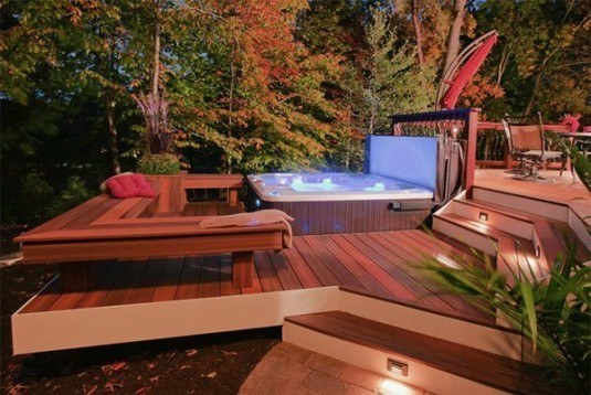 hot tub-wooden