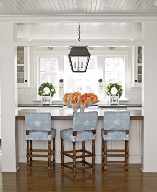 kitchen bar stools-blue