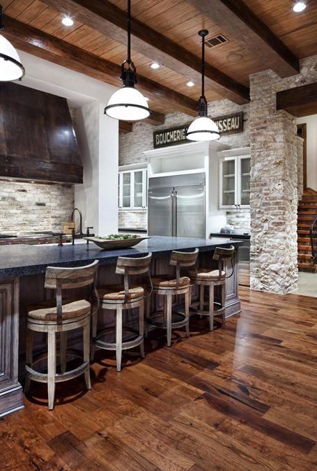 kitchen bar stools-wooden