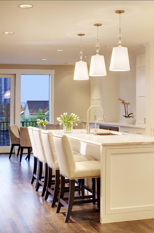 kitchen island lighting-luxury kitchen