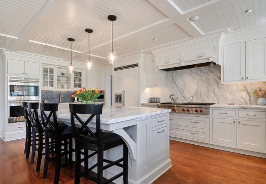 kitchen island lighting-sophisticated kitchen