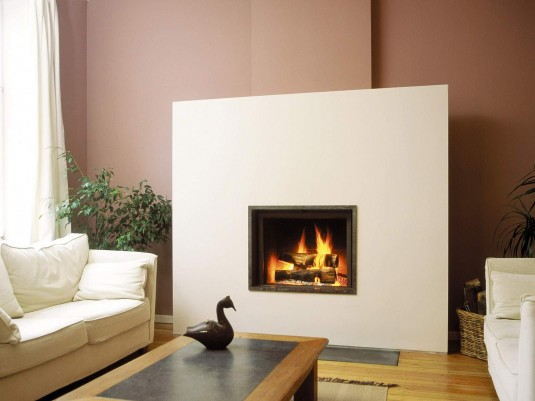 living room-electric fireplace