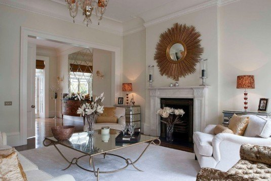 living room-white and gold