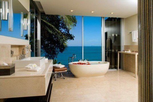 modern bathroom-open view