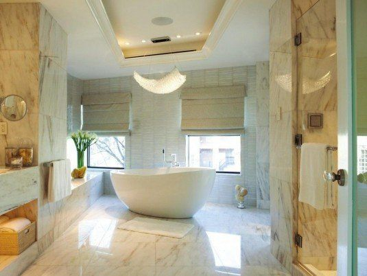 modern bathroom-white