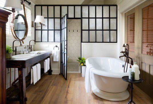 modern bathroom-wooden