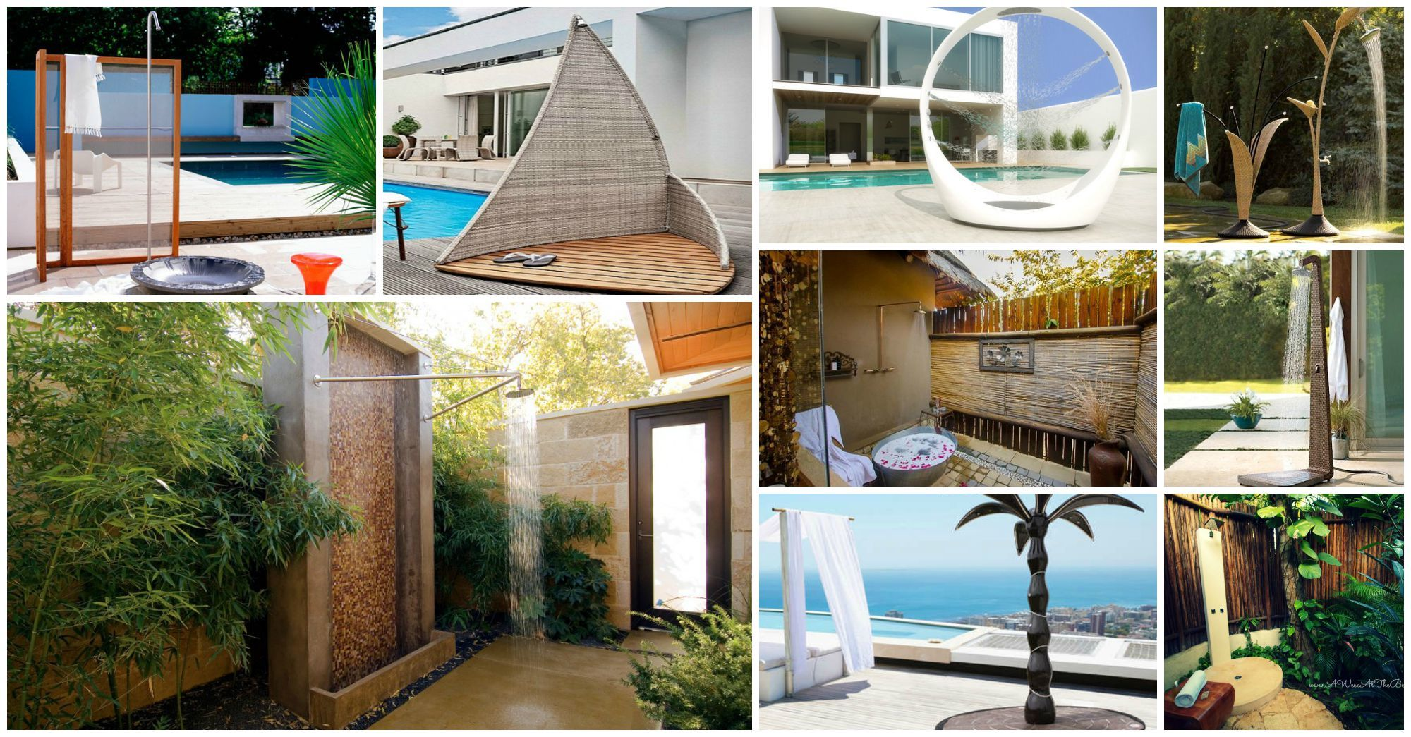 Over-The-Top Luxurious Outdoor Shower Ideas