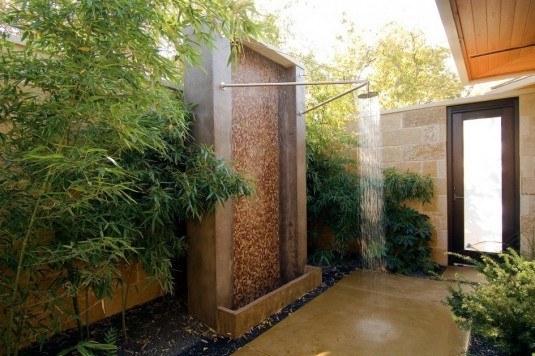 outdoor shower-mosaic