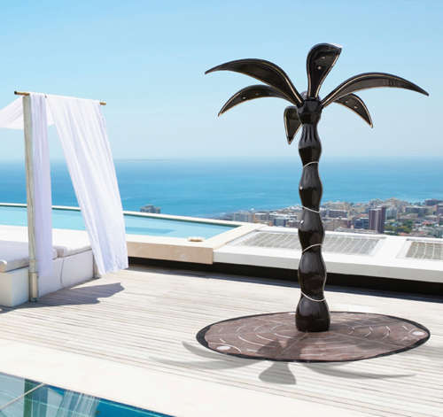 outdoor shower-palm
