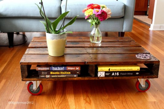 pallet coffee table diy project7