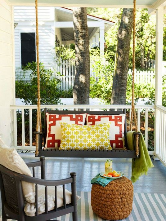 patio swing-colorful