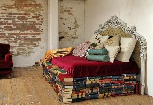 platform bed-books