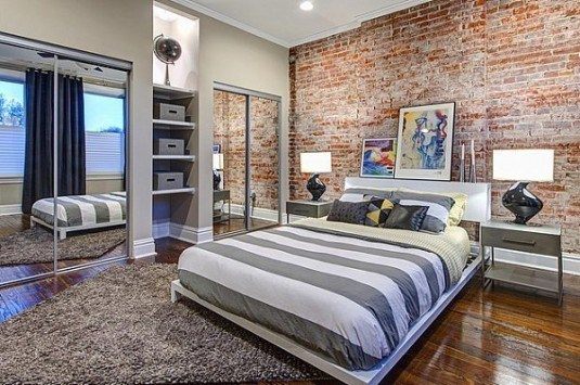 platform bed-modern industrial
