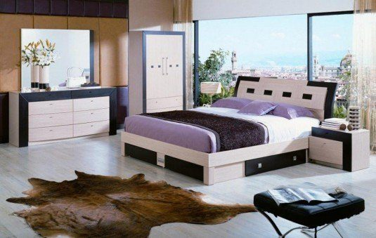 platform bed-purple