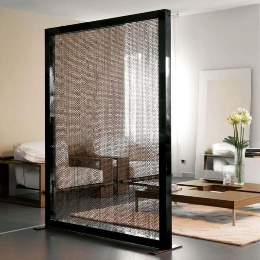 room devider-black sleek frame