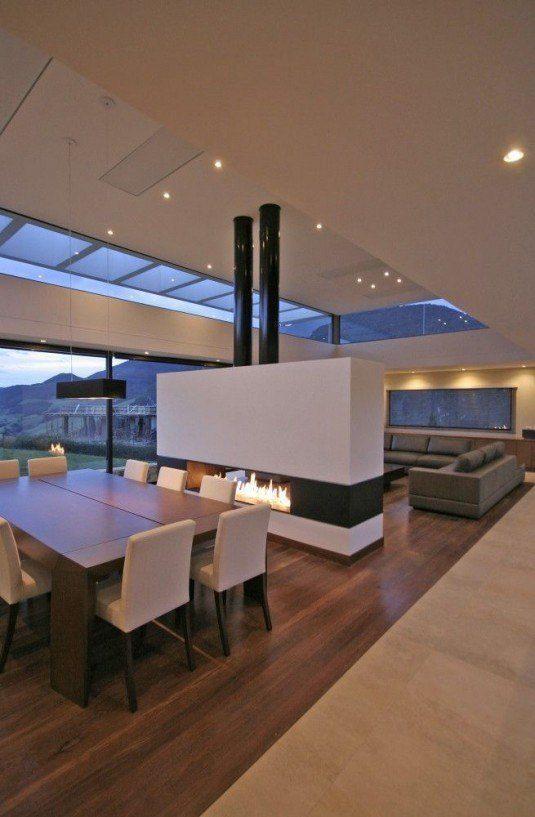 room devider-fireplace
