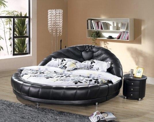 round bed-black