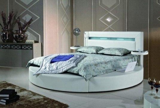 round bed-mint