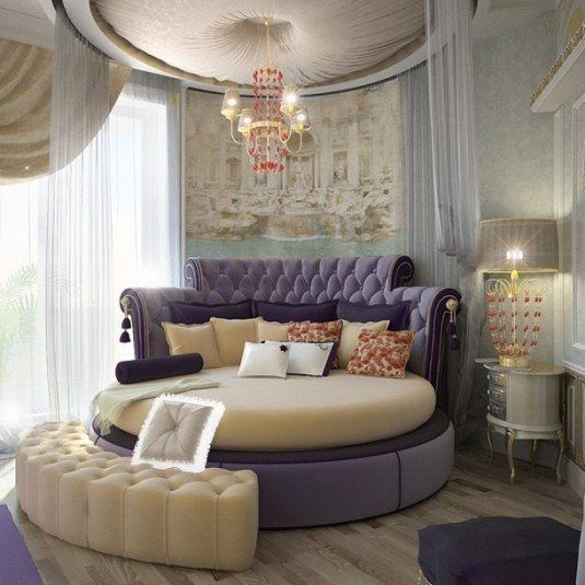 round beds-purple