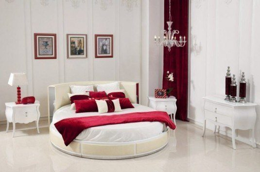 round beds-white