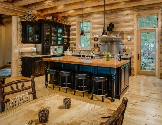 rustic kitchen-black