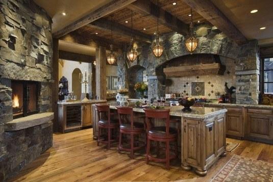 rustic kitchen-contemporary