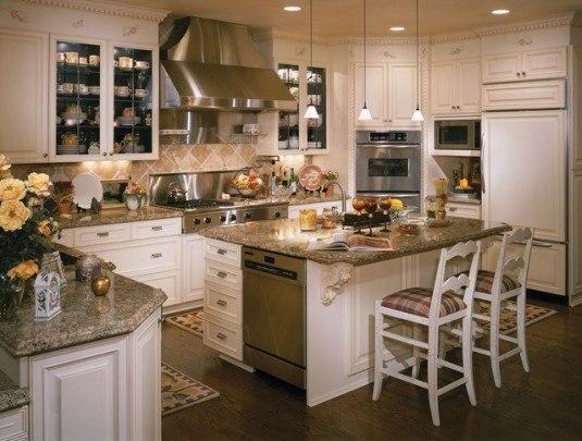 rustic kitchen-contemporary white
