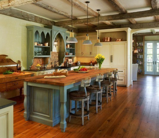 rustic kitchen-french