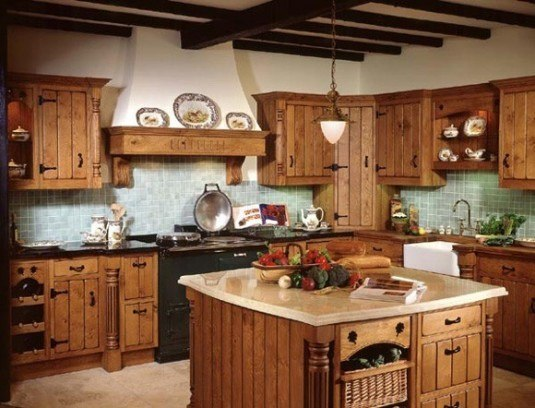 rustic kitchen-on a budget