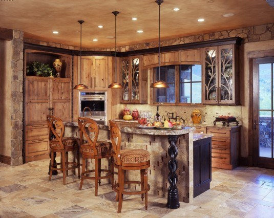 rustic kitchen-sophisticated