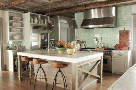 rustic kitchen-white