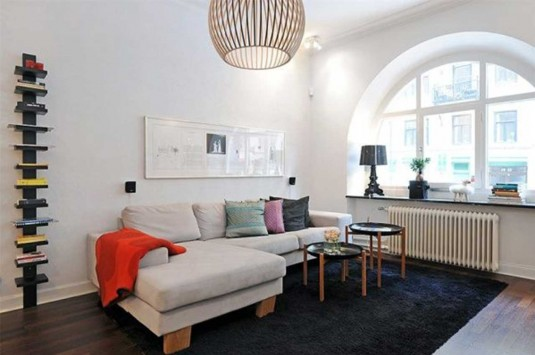 scandinavian living room ideas - beige