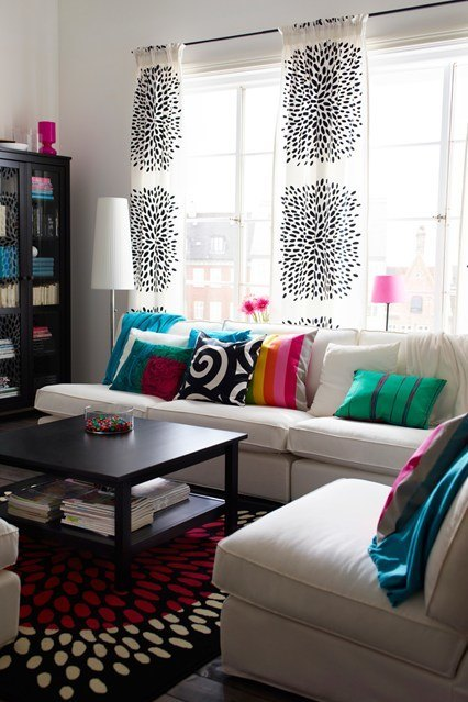 scandinavian living room ideas - colorful