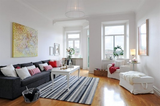 scandinavian living room ideas - gray